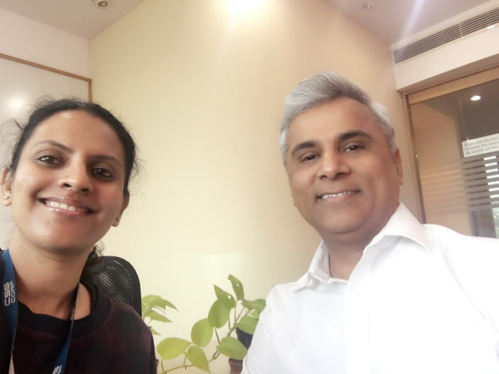 Smitha with Raj Reddy