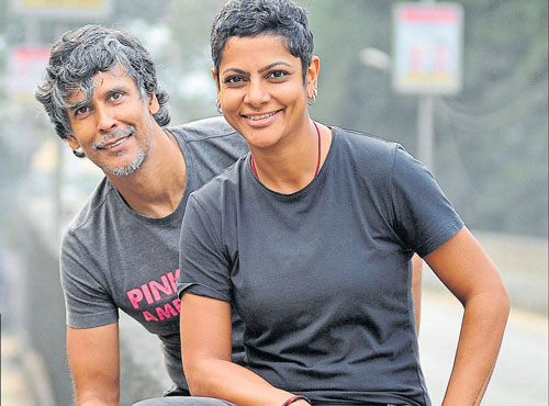 Nikki and Milind Soman