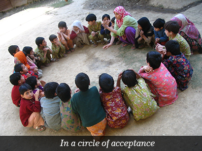 In a circle of acceptance